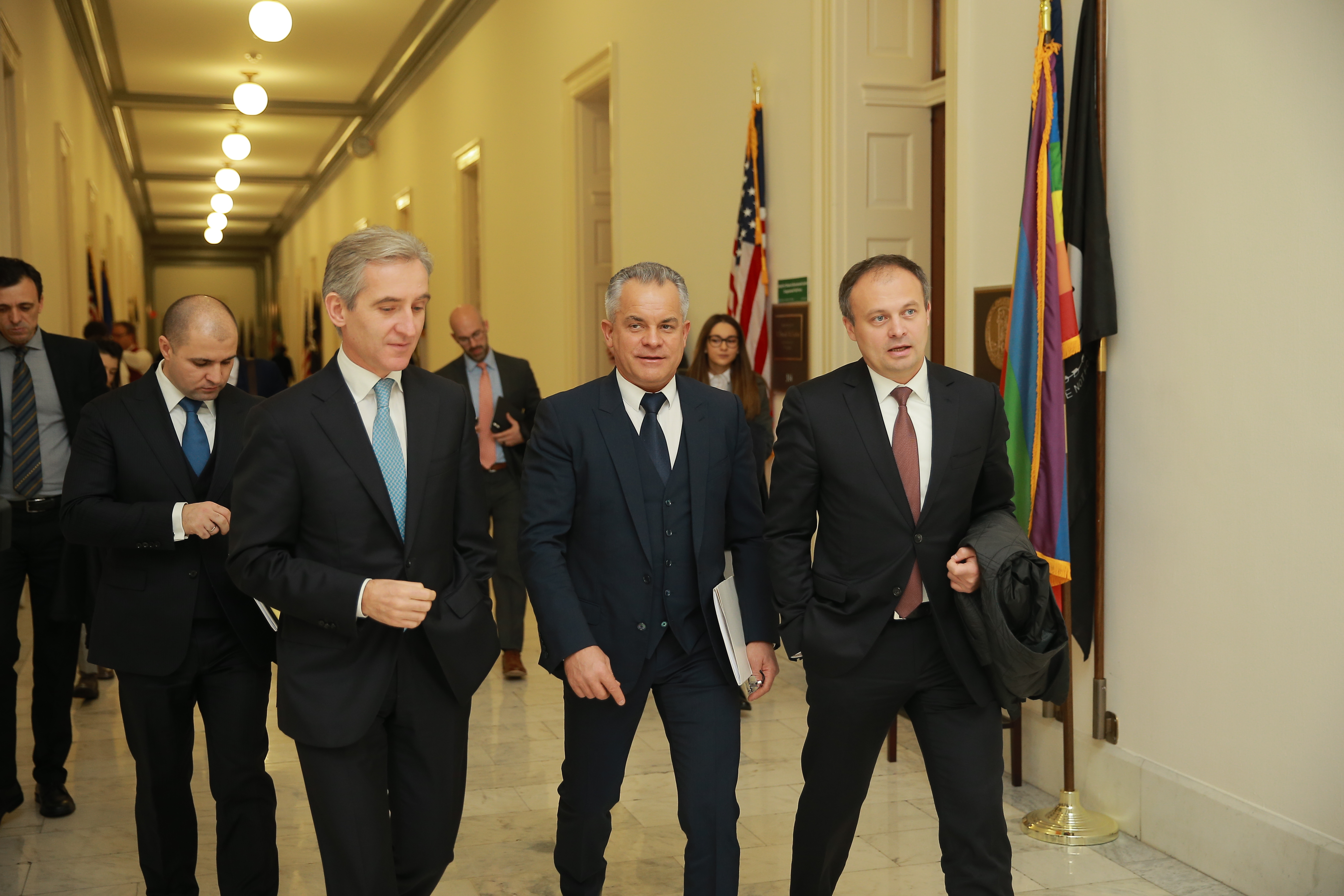 The President of the Democratic Party of Moldova Vlad Plahotniuc began his visit to the United States of America