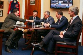 Vlad Plahotniuc met with congressman Pete Olson who is also leader of Congressional Moldova Caucus - a US - Moldova parliamentary friendship group