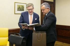 Vlad Plahotniuc had farewell meeting with EU Ambassador Pirkka Tapiola