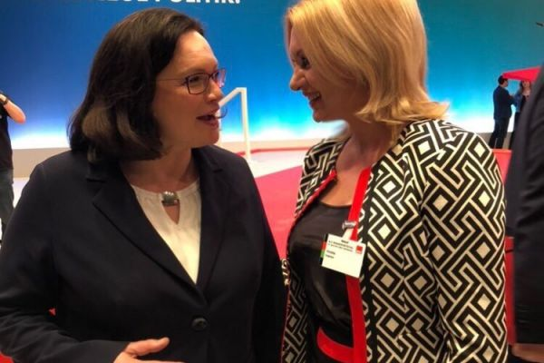 DPM congratulated Mrs. Andrea Nahles – the newly elected Chair of the Social Democratic Party of Germany
