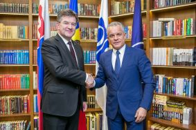 Chairman of PDM Vlad Plahotniuc and Chairman-in-office of OSCE Miroslav Lajčák Support Continuation of Dialog for Transnistrian Conflict Settlement